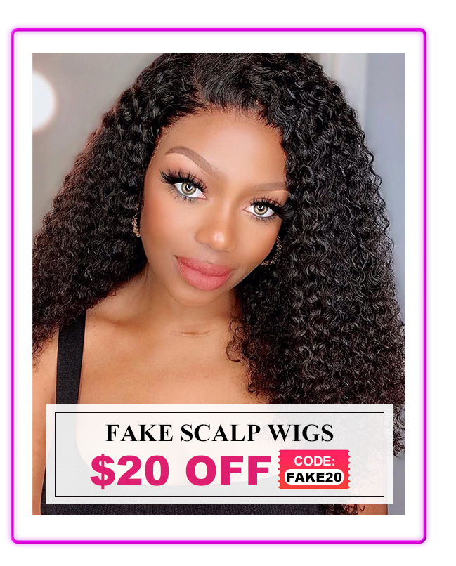 Fake Scalp Wigs Kinky Curly Body Wave Straight Deep Wave Water Wave  Brazilian Virgin Human Hair Wigs