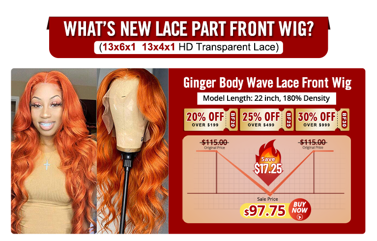 Ginger Body Wave Lace Front Wigs