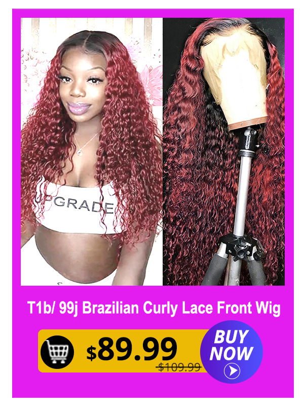 T1b 99j Fake Scalp Lace Front Wigs 13x4 Pre plucked Glueless Brazilian Curly Human Hair Wigs With Baby Hair