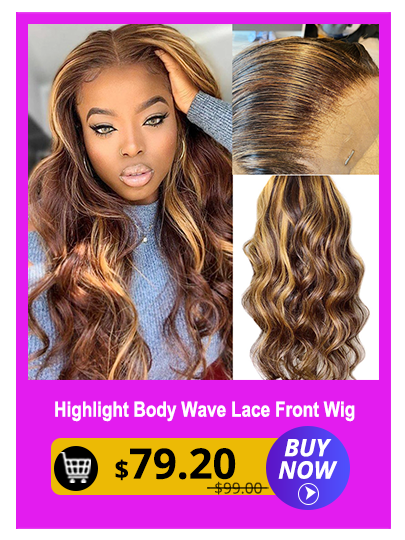 13x4 Highlight Brazilian Body Wave Lace Front Human Hair Wigs For Black Women Pre plucked