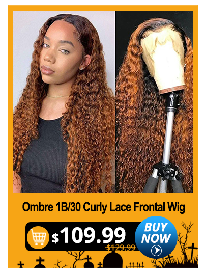 Ombre 1B/30 Curly Lace Frontal Wig