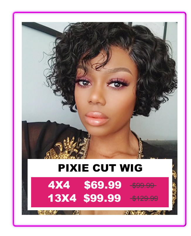Pixie Cut Wig Short Curly Bob Wigs Brazilian Virgin Human Hair Wigs