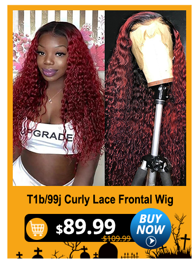 T1b/99j Curly Lace Frontal Wig