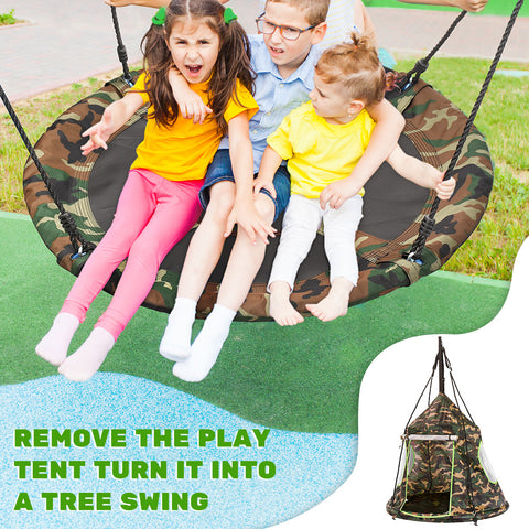 """Zupapa Camouflage 40"""" Sauce Tree Swings can carry up to 330 pounds."""
