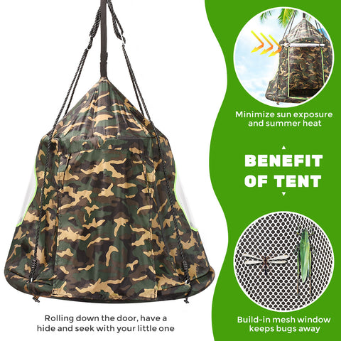 """Benefits of a detachable play tent for Zupapa 40"""" Saucer Tree Swing"""
