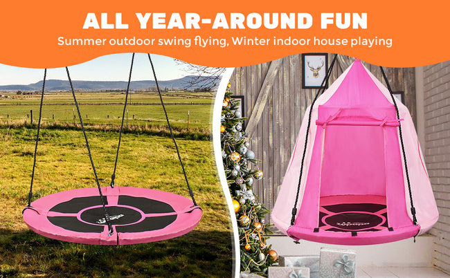 family relaxation with Zupapa canopy swing