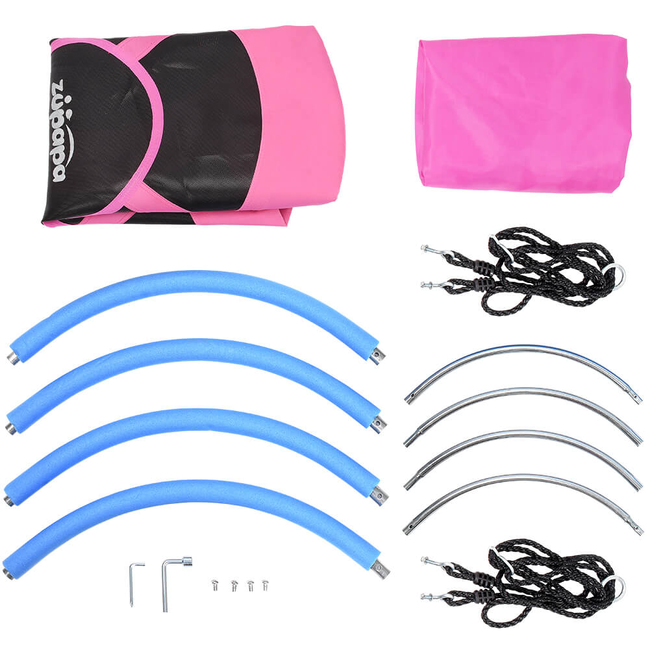 all parts included for Zupapa pink saucer tree swings