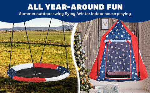 American flag inspired saucer tree swing from Zupapa