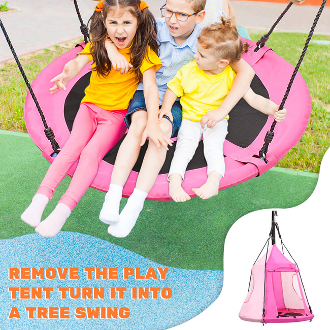Zupapa saucer tree swing carries up to 300 lb.