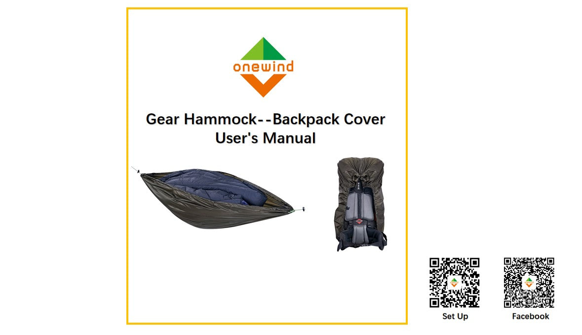 Backpack Cover and Gear Hammock Setup
