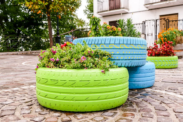 Stunning Plant Holder with Road Tires
