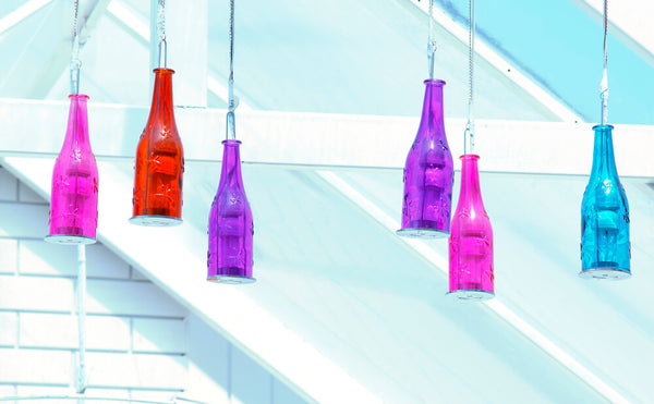Turn a Wine Bottle into Outdoor Pendant Lights