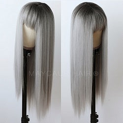 gray synthetic wigs