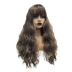 synthetic wigs with bangs