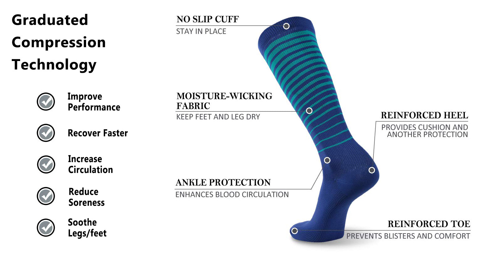 running compression socks features