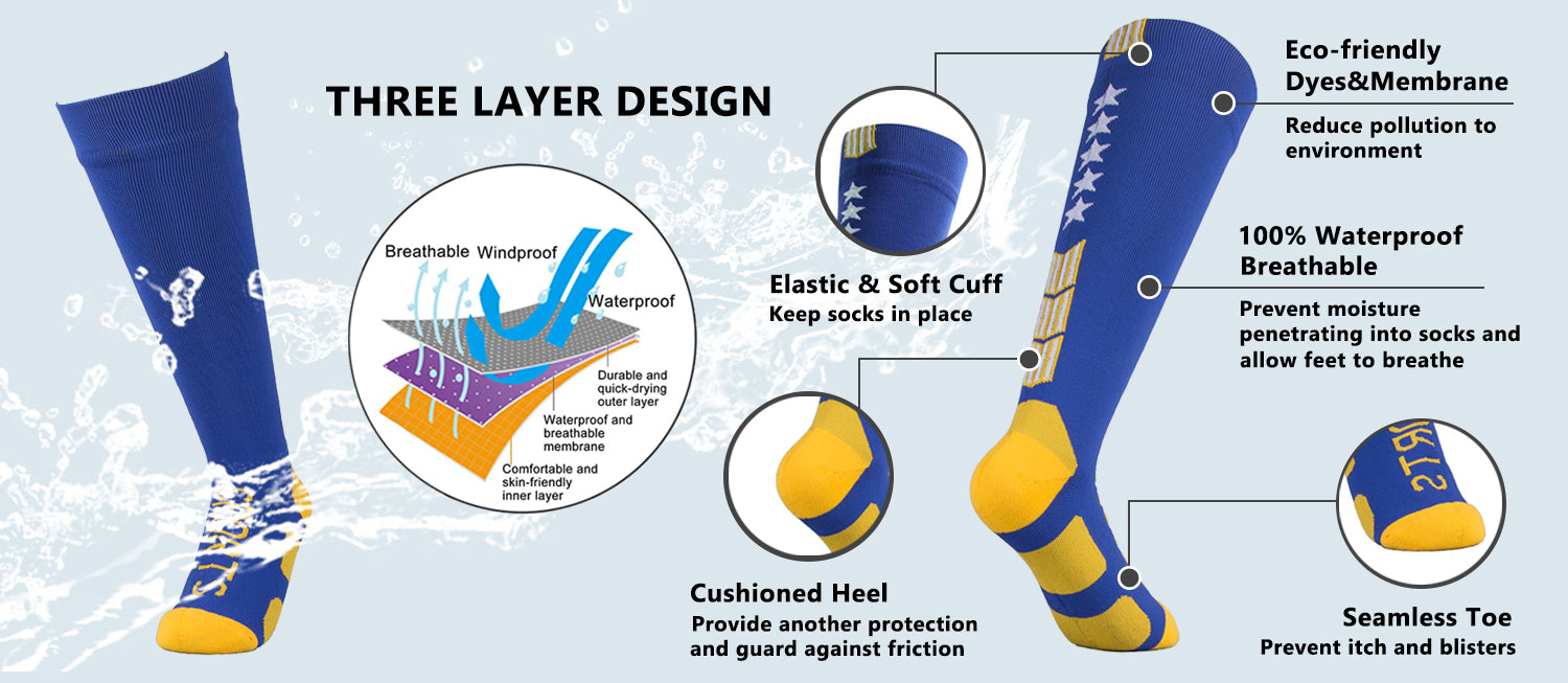 knee high waterproof socks features