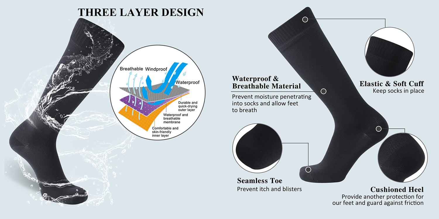 black waterproof socks features