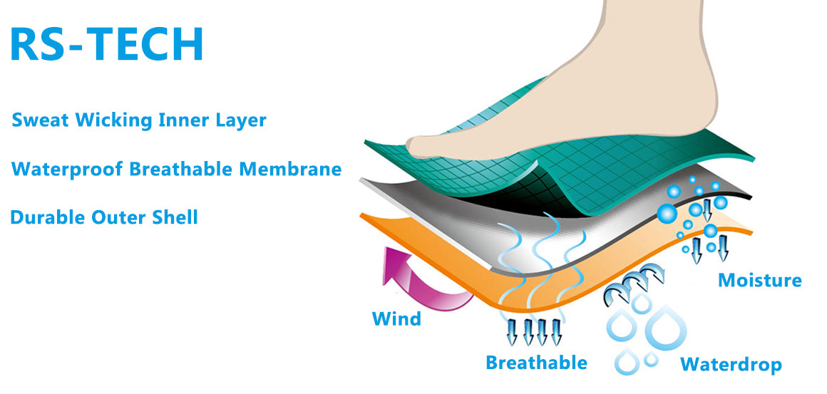 3 layer waterproof socks