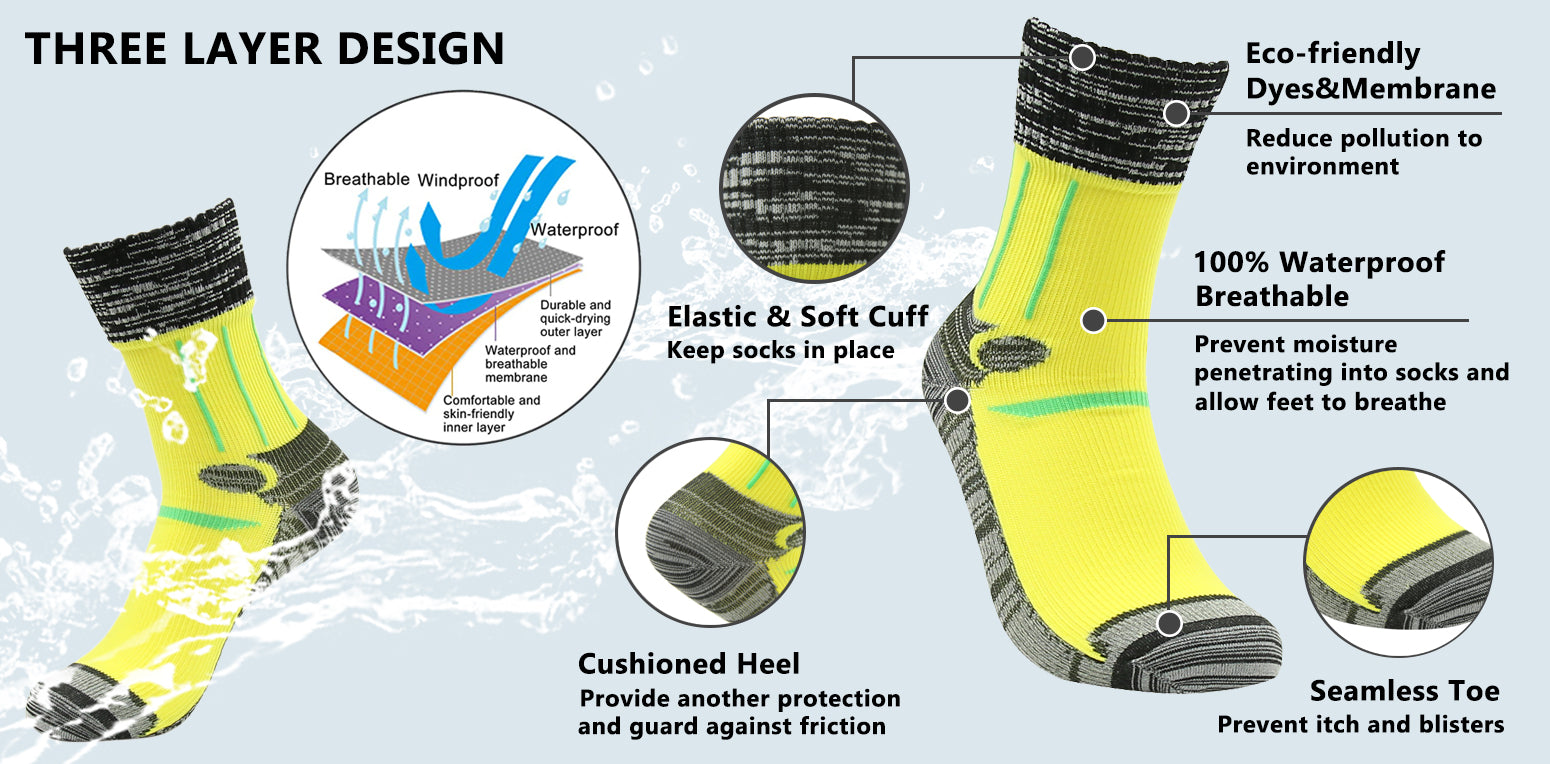 waterproof socks features