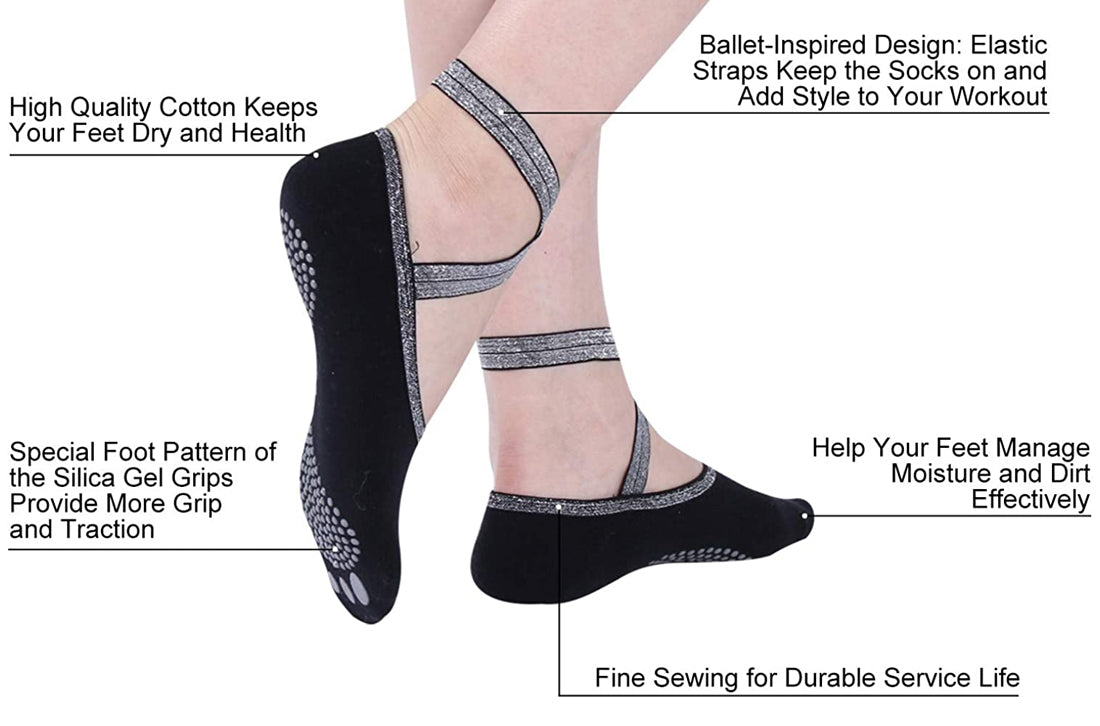 yoga socks features