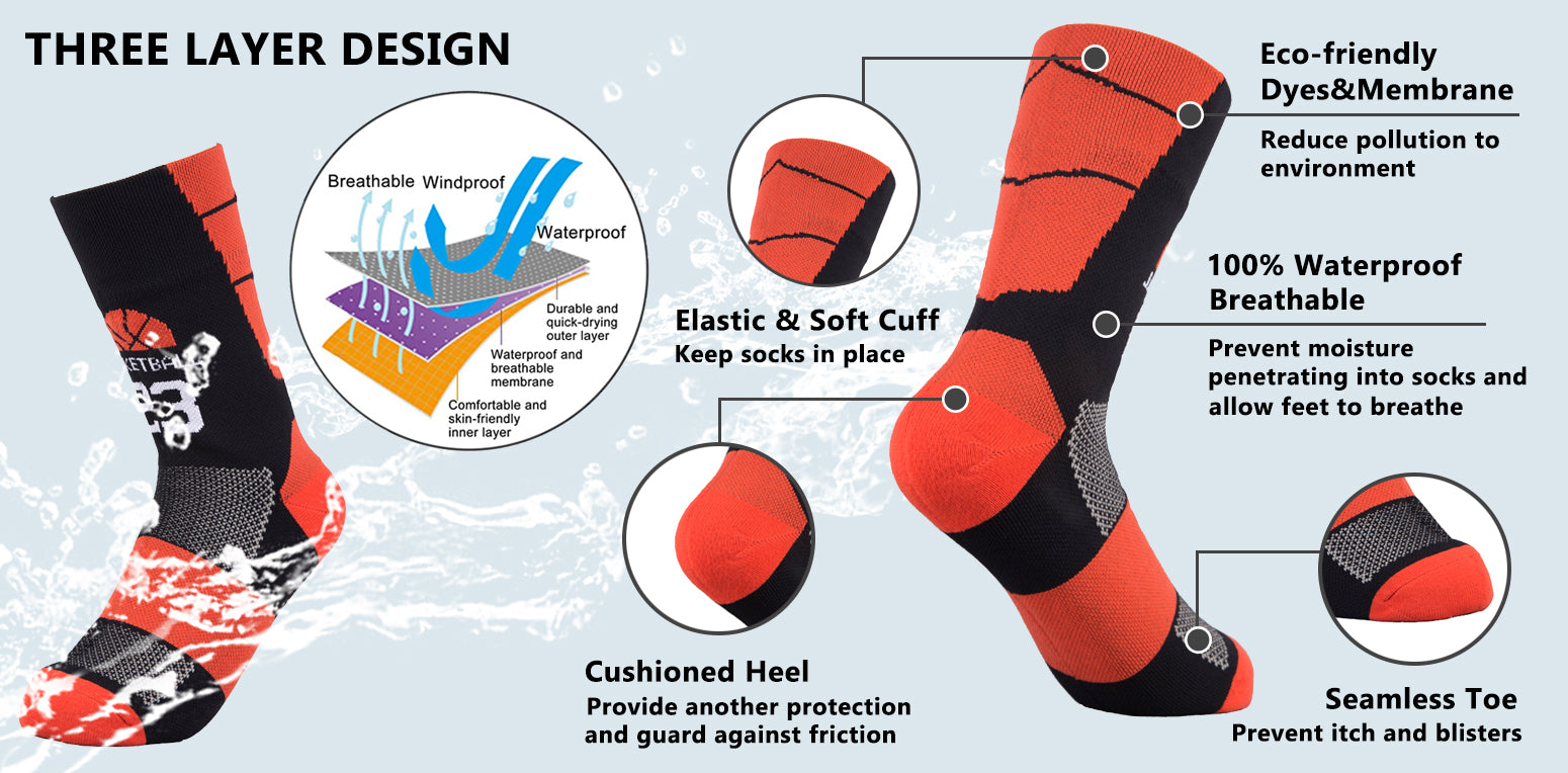 basketball waterproof socks
