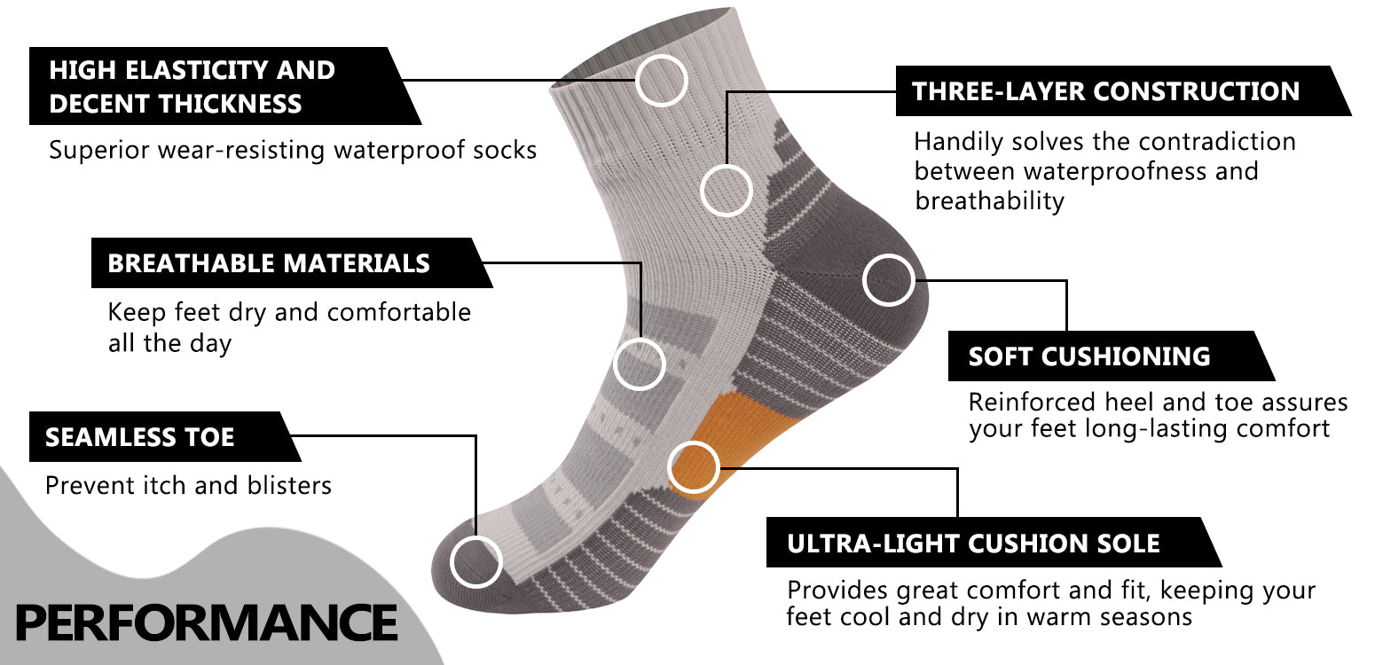 grey waterproof socks