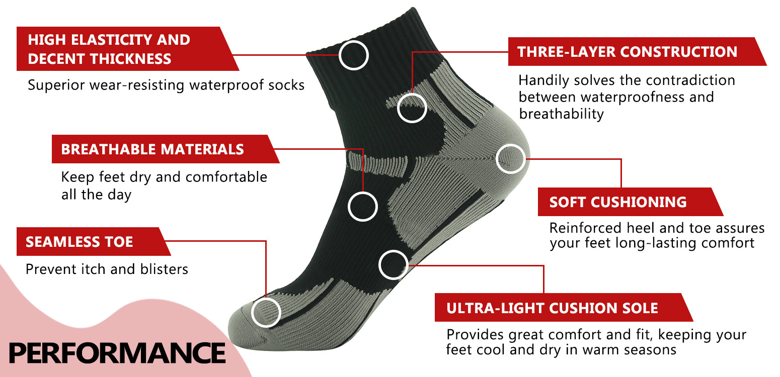 ankle waterproof socks features