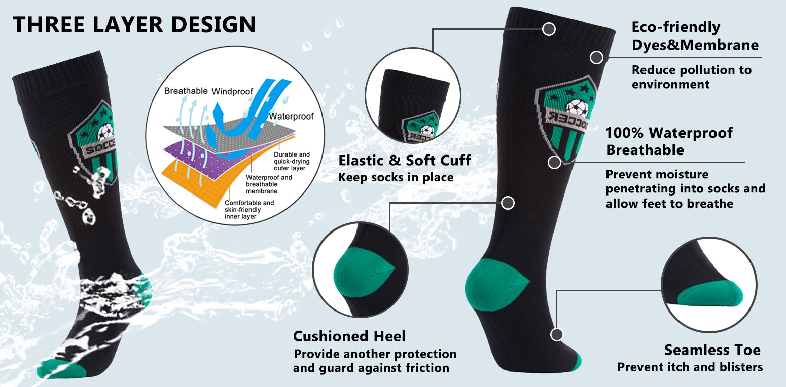 feature waterproof socks knee high