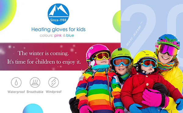 Heated Winter Gloves for Kids
