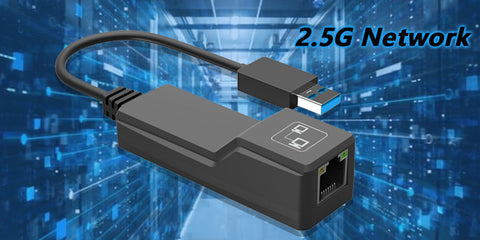 2.5GbE USB to Ethernet Network Adapter - 2.5G Multi Speed Gigabit Network - for 2.5G Network Switch, Router, Gaming User