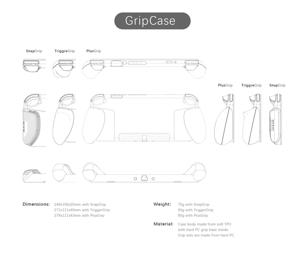 GripCase Crystal only