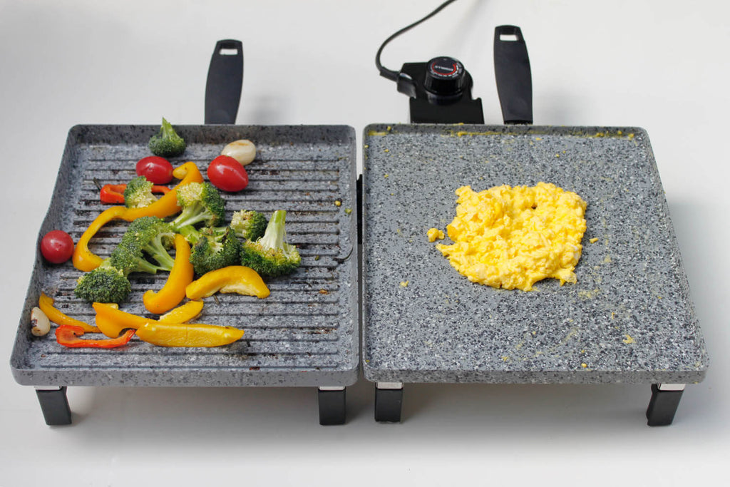 Atgrills electric grill griddle combo with stone coating