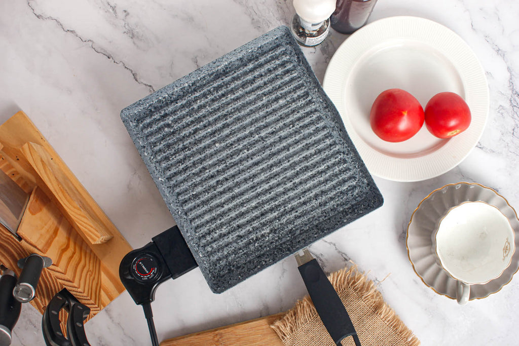 Atgrills electric grill pan with stone coating