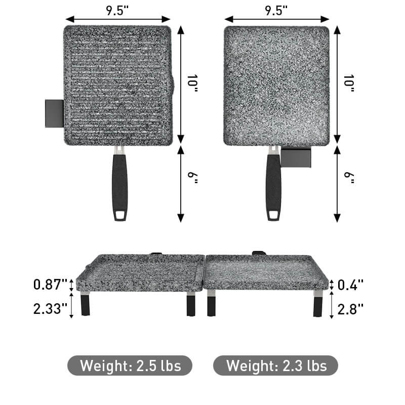 Atgrills grill griddle combo weight and dimensions