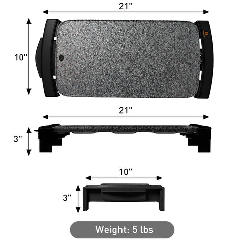 Gray griddle dimensions