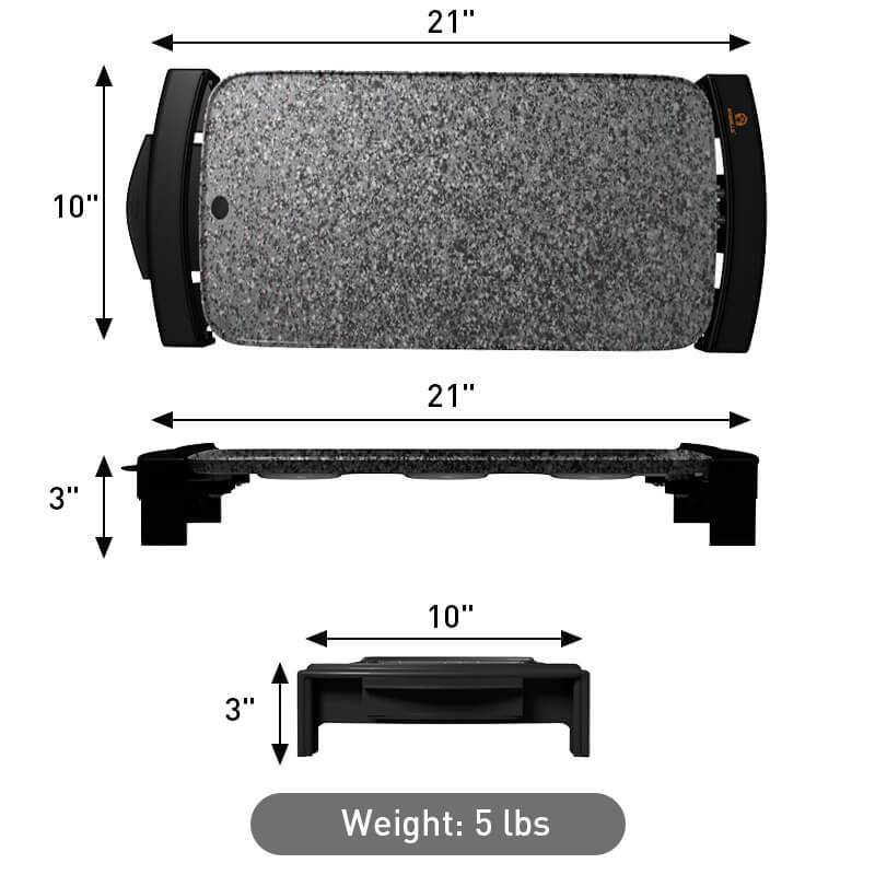 Griddle/Grill gray color weight and dimensions
