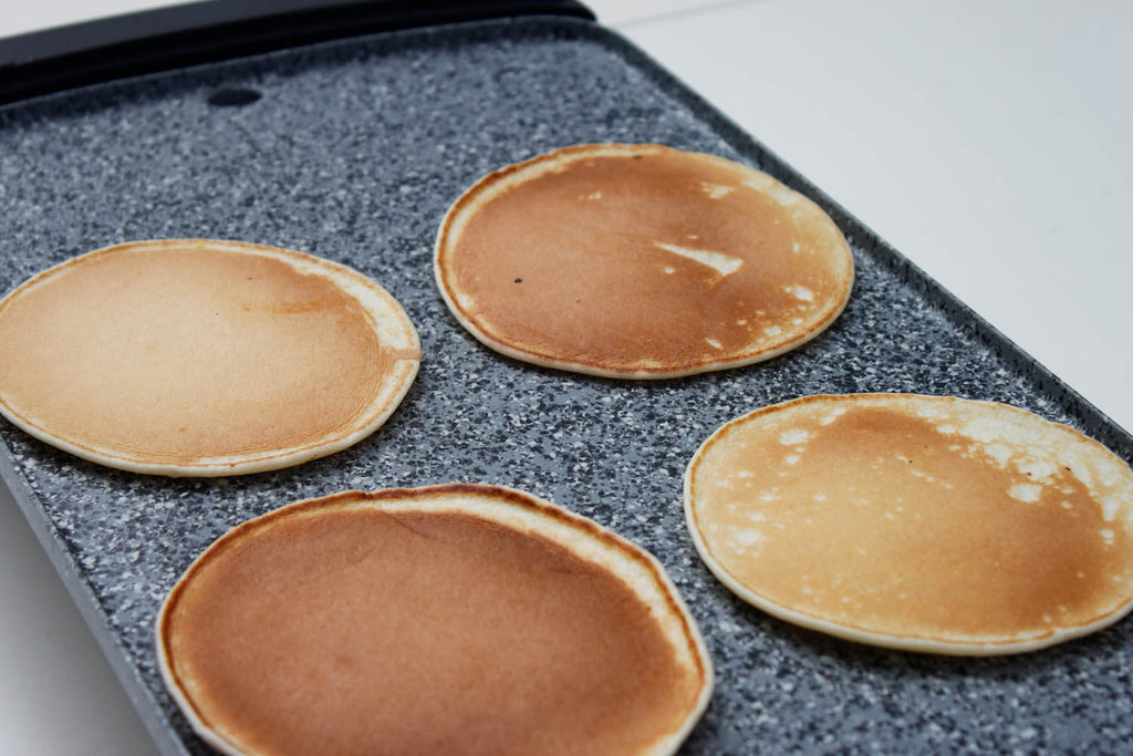 Pancakes on Atgrills electric griddle