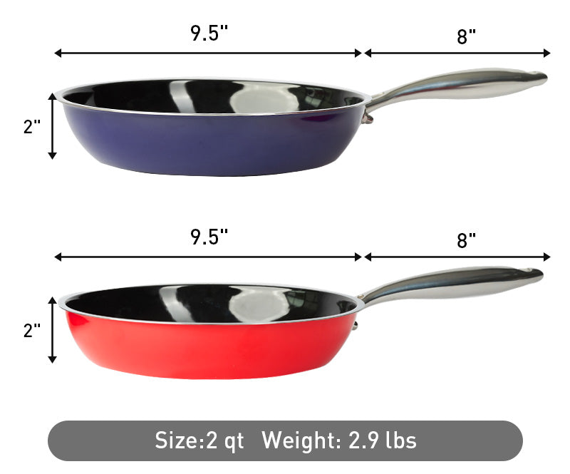Skillet frying pan weight and dimensions