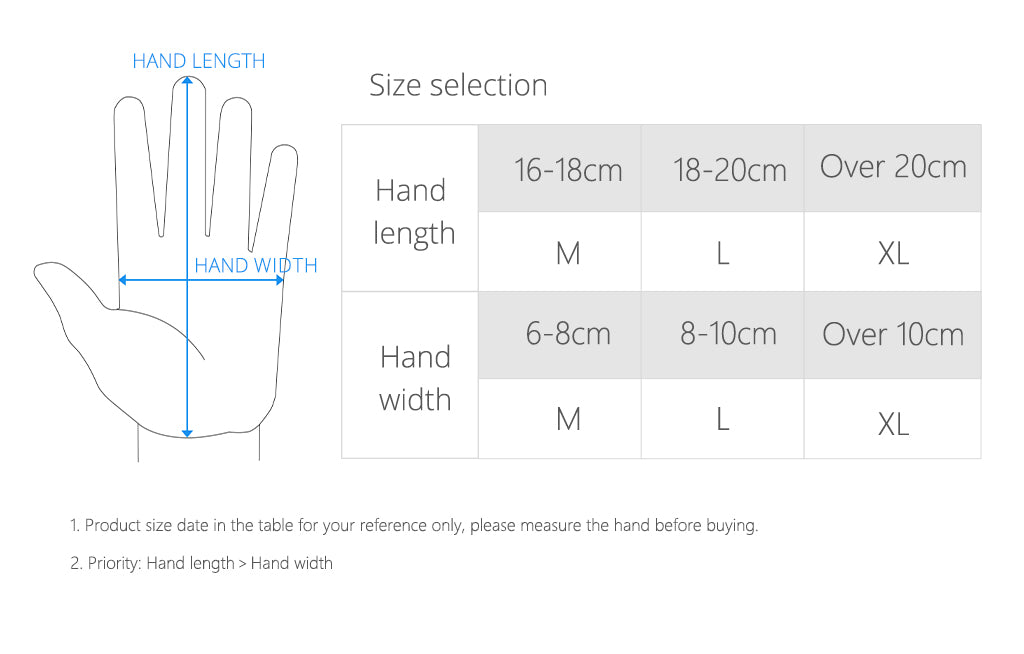 Size selection-Photography gloves