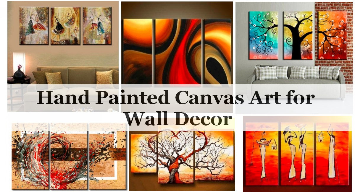 Home Decoration Ideas, Living Room Paintings, Hand Painted Art, Abstract Painting for Sale