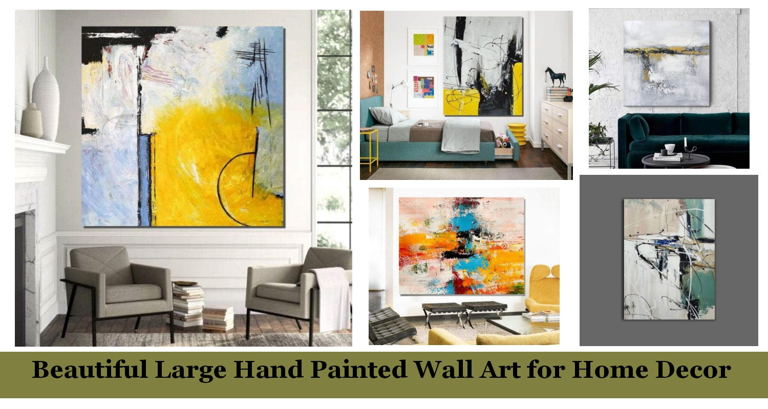 Large Hand Painted Wall Art Ideas for Living Room, Easy Abstract Painting Ideas, Simple Acrylic Painting Ideas, Modern Contemporary Wall Art Paintings for Bedroom