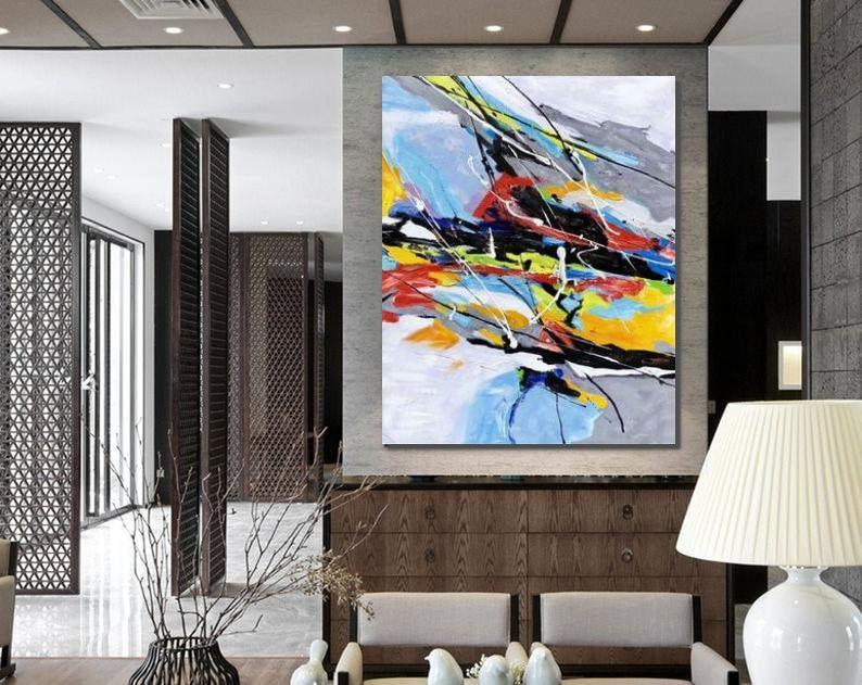 Wall Art Paintings, Hand Painted Acrylic Painting, Modern Abstract Painting, Extra Large Painting Ideas for Living Room