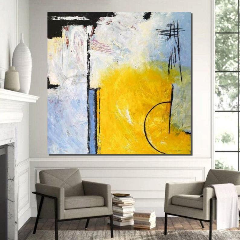 Contemporary Modern Art, Simple Acrylic Painting Ideas, Large Abstract Paintings for Dining Room, Living Room Canvas Art Ideas