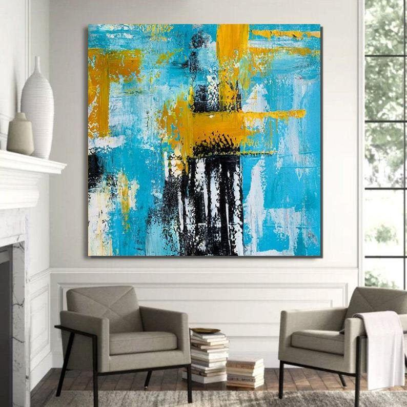 Original Contemporary Modern Art, Simple Canvas Painting, Acrylic Paintings for Bedroom, Living Room Wall Painting
