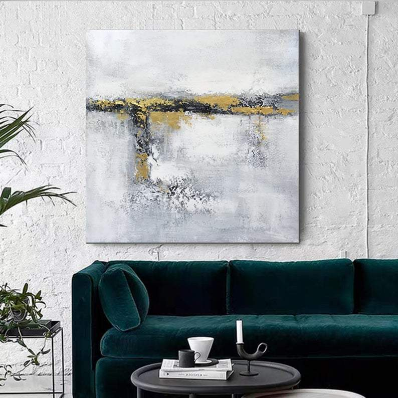 Contemporary Wall Painting, Original Acrylic Painting for Dining Room, Living Room Wall Painting, Modern Artwork, Large Canvas Painting
