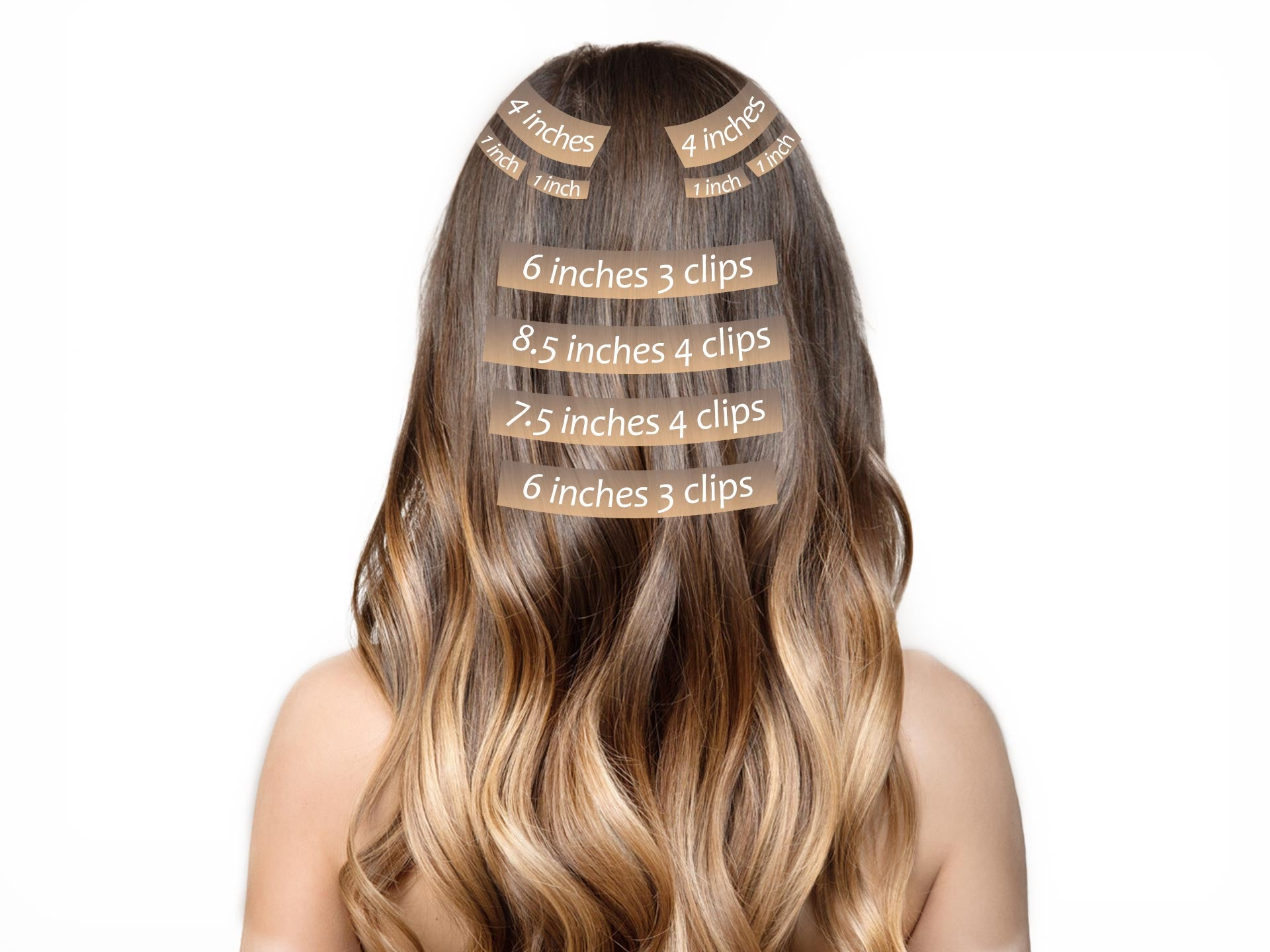apply clip in hair extensions