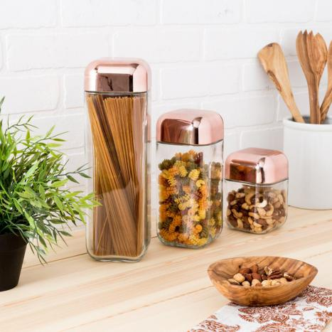 copper&glass containers