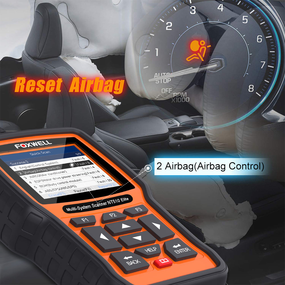 NT510Elite Airbag Reset functions