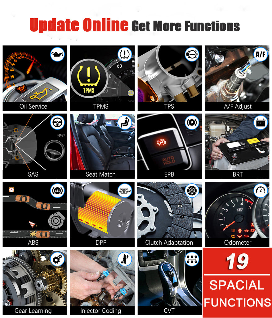 Foxwell GT60 Support 19+ special functions