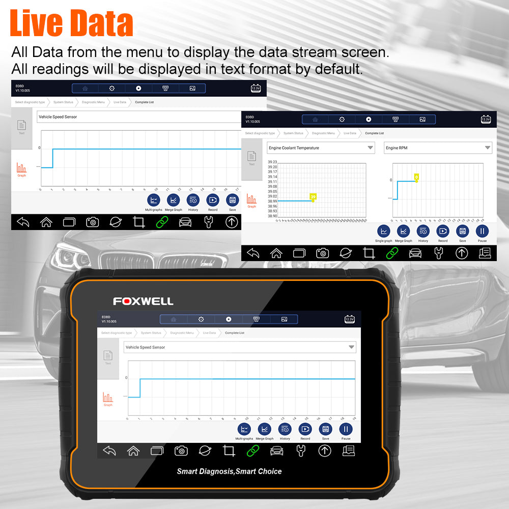 Foxwell GT60 Show Live Data function